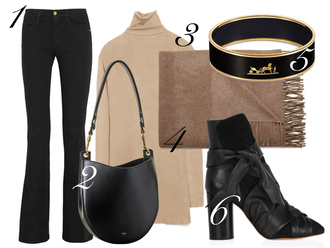 by funda blogger jeans bag scarf jewels hermes camel black boots
