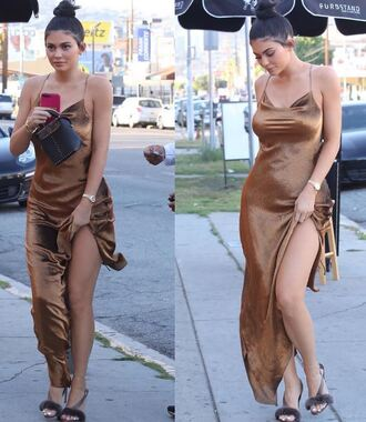 dress sandals asymmetrical asymmetrical dress kylie jenner kardashians gown silk dress metallic shoes lace dress bodycon dress backless
