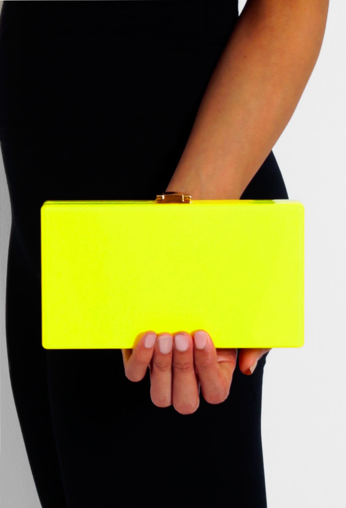 Battersea Neon Yellow Clutch Bag | Pink Boutique