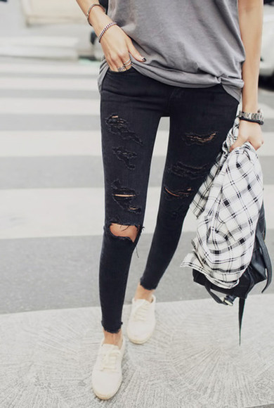 jeans oldschool shoes bag black jeans