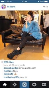 coat,blue,fur