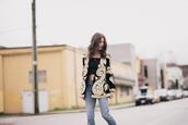 to bruck ave,blogger,jacket,jeans,top