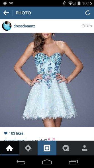 light blue bedazzled beautiful details