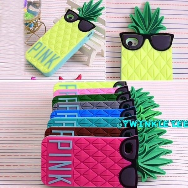 2014 new fashion victoria s secret summer pineapple case cover for iphone 4g 5g