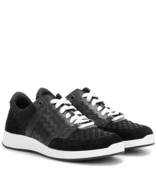 Bottega Veneta suede sneakers sneakers leather suede black shoes