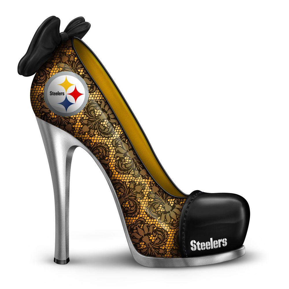 NFL Licensed Pittsburgh Steelers High Heel Shoe Figurine ...