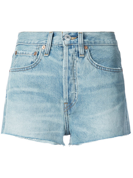 Re/Done shorts denim shorts denim women cotton blue