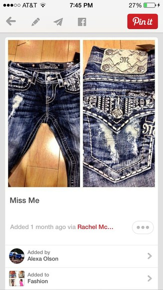 jeans torn jeans miss me