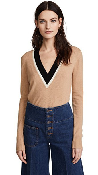 Veronica Beard sweater black camel