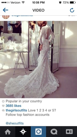 white lace dress wedding dress ivory dress lace