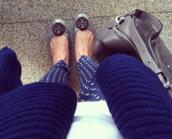 pants,capris,navy,slacks,polka dots