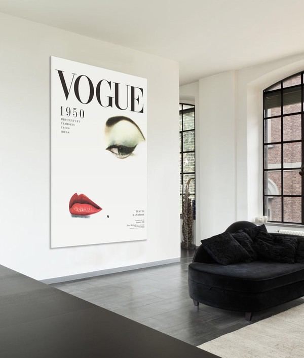 home accessory: vogue canvas painting, poster, editorial, girly