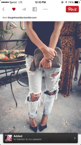 jeans torn jeans ripped jeans