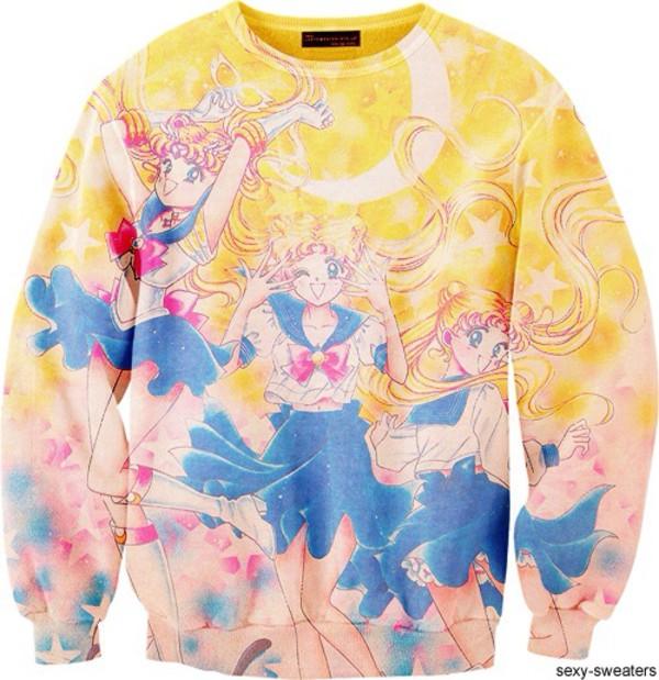 sailor moon sweater sailor moon sweater kawaii pretty cute anime manga
