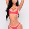 Bastina bikini set - red/white