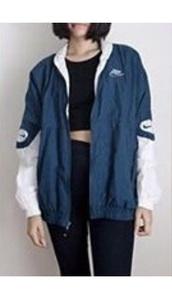 jacket,nike,blue,nike windbreaker