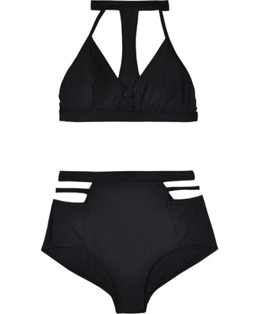 Chromat Black Sports Bikini