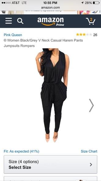 pants herempants romper black romper jumpsuit/rompers jumpsuit
