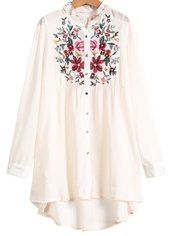 blouse,cute,shirt,blogger,fashion blogger,pink,white,colored,perfect,embroidered,sheinside,sheinside.com,ootd,potd,shorts #dipdye #studs #cute #want