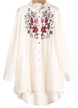 blouse cute shirt blogger fashion blogger pink white colored perfect embroidered sheinside sheinside.com ootd potd shorts #dipdye #studs #cute #want