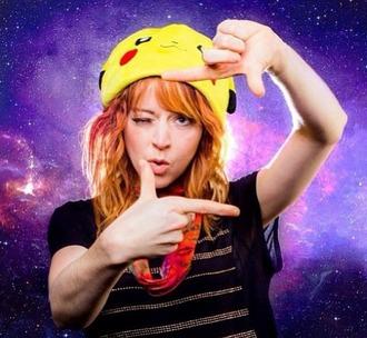 hat pokemon lindsey stirling pikachu yellow