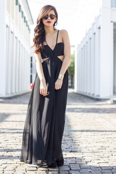 dress long black maxi dress prom dress