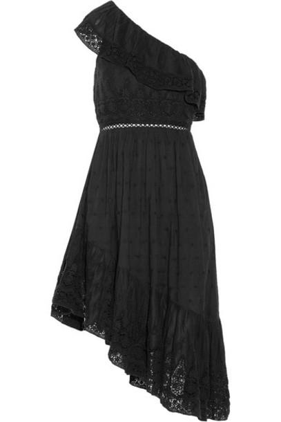 dress midi dress midi cotton black crochet