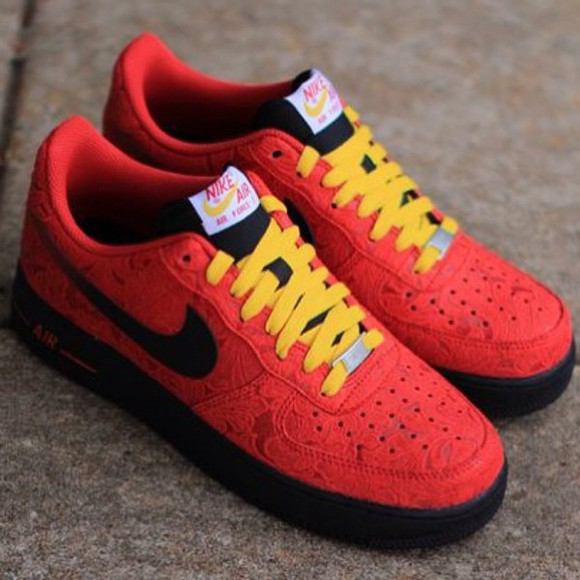 shoes nike nike running shoes nike sneakers custom or nah , red, dope,