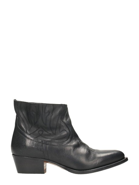 leather black black leather shoes