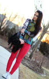 top,bag,fringed bag,black,blogger