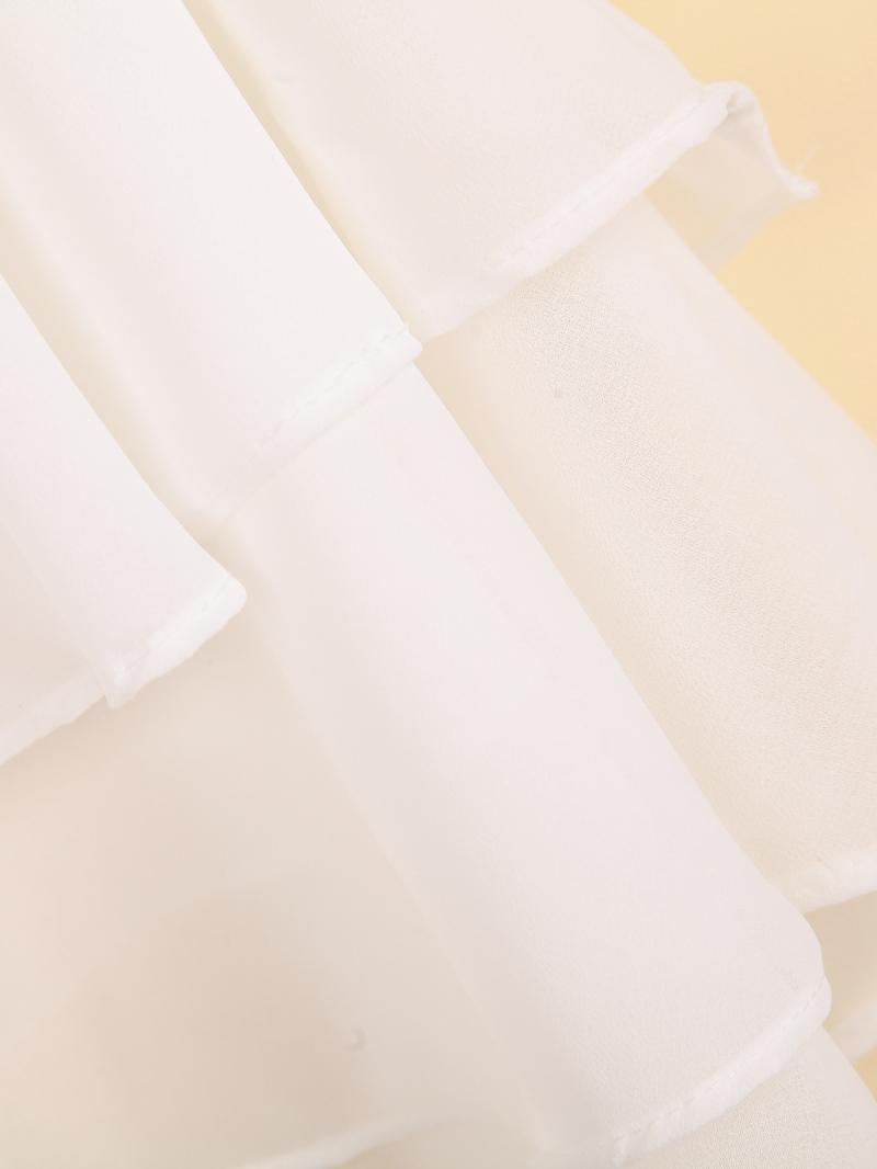 White Spaghetti Strap Double Layers Chiffon Vest - Sheinside.com