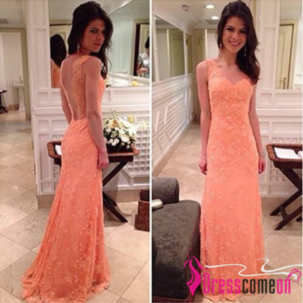 Dress: lace dress party dress party lace mermaid prom dress ...