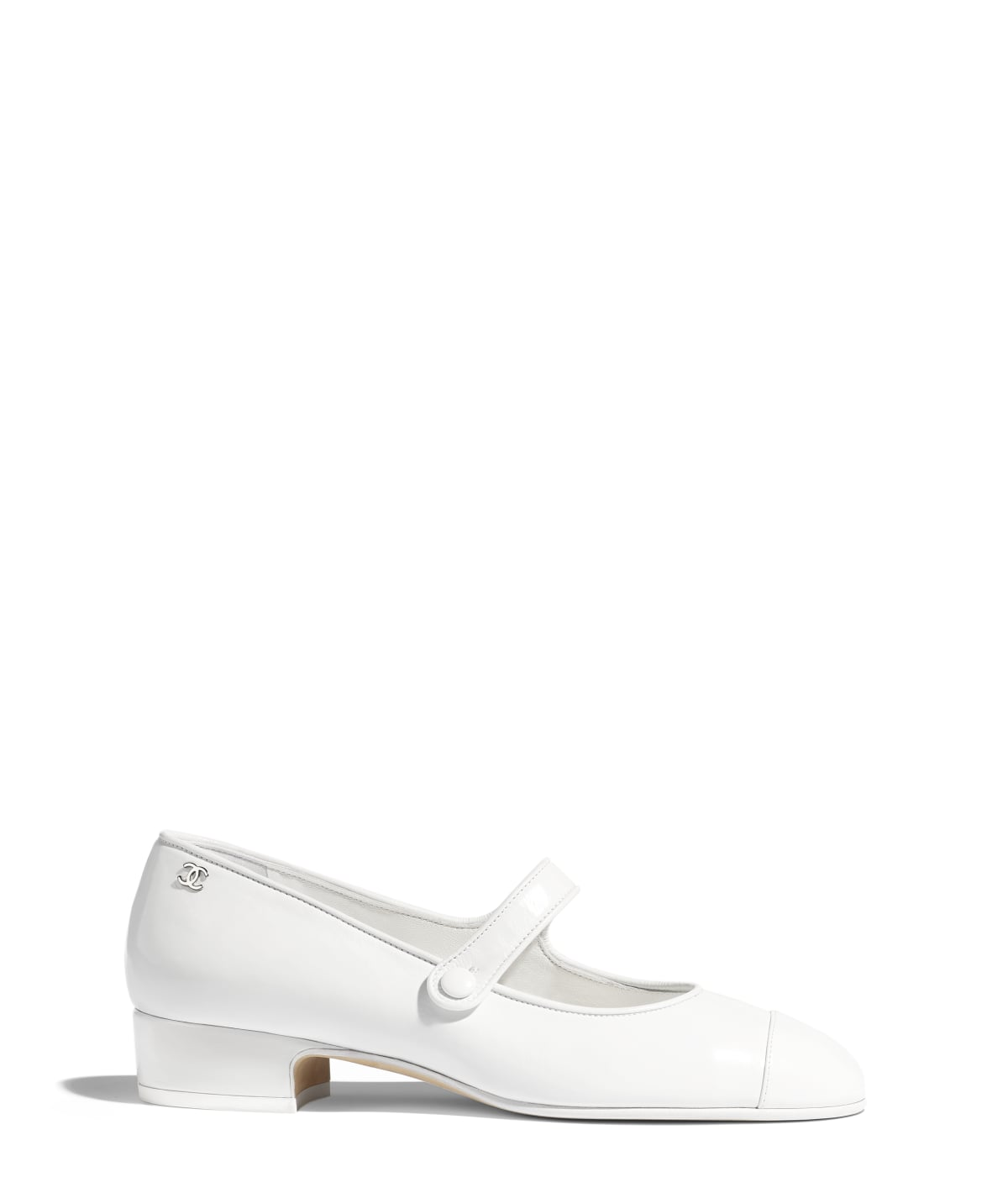 Mary Janes, calfskin., white. - CHANEL