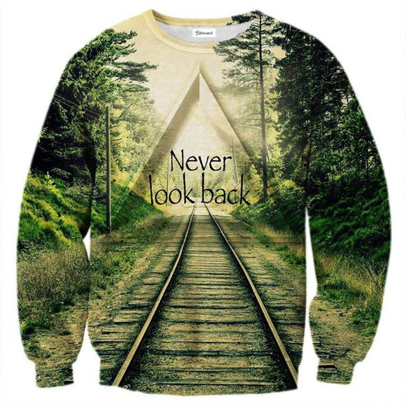pullover sweater train railroad vert