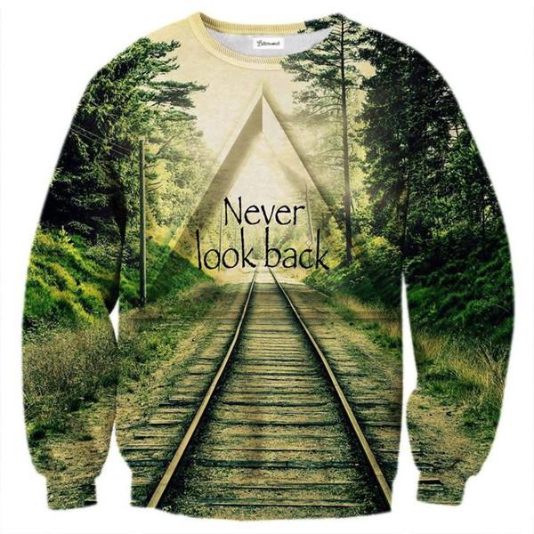 train railroad pullover sweater vert