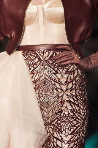 jacket haute couture skirt dress bodysuit