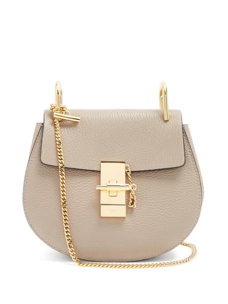 cross mini bag leather light grey