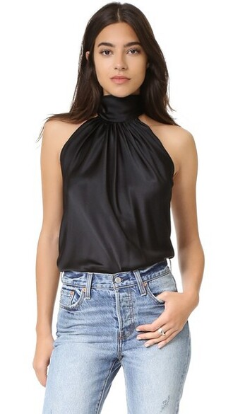top halter top back black