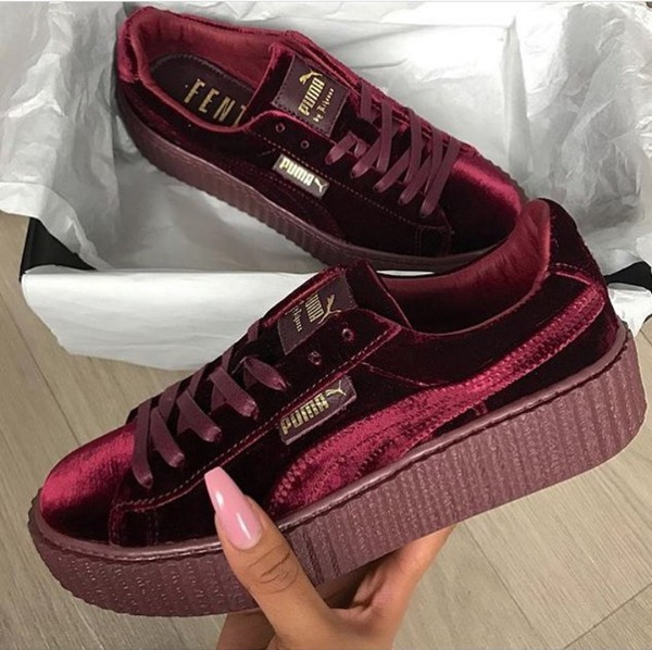 5f91ee54622d Puma Velvet Creepers Burgundy simplisecurity.co.uk