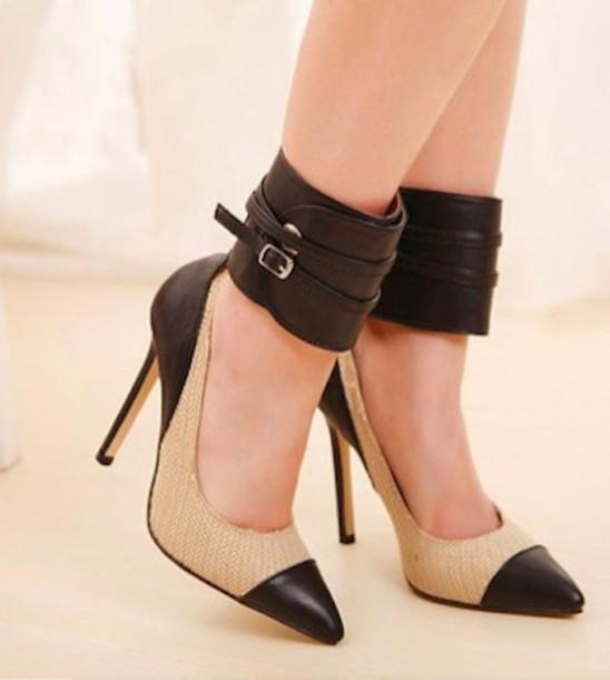 Black And Tan Heels Fs Heel