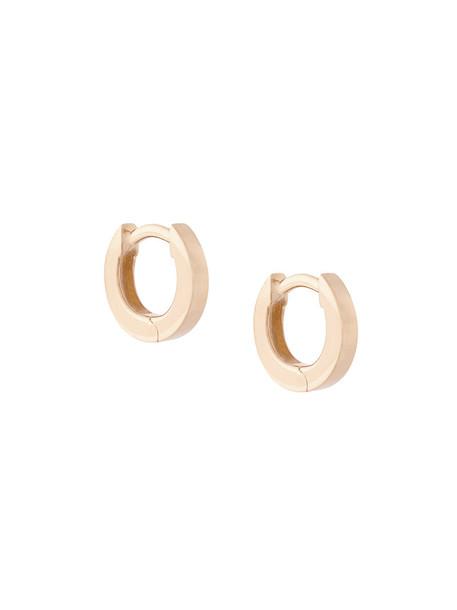 mini women earrings hoop earrings gold purple pink jewels