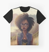 t-shirt,black afro,afro style,afrocentric t-shirt,nerdshirts,afro beauty all-over t-shirts,tees,afrocentric,afro t-shirts,afro art