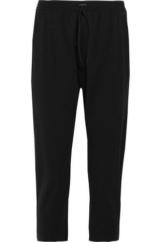 pants track pants cropped black
