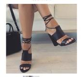 shoes,black,blackheels,black shoes,high heels,heels,lace up