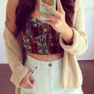 cardigan jacket oversized cardigan summer outfits tribal pattern aztec top