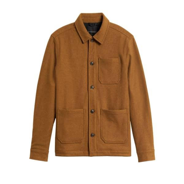 Banana Republic Men's Wool-Blend Chore Jacket Copper Clay Regular Size L