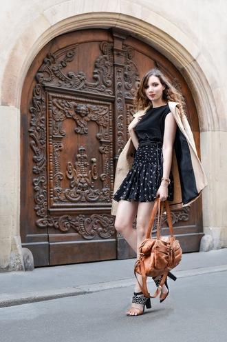 maxce blogger coat skirt belt top bag shoes