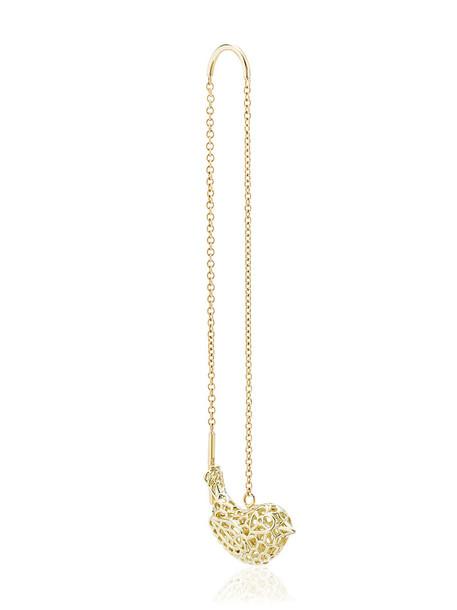 Natasha Zinko women gold yellow crochet grey metallic jewels