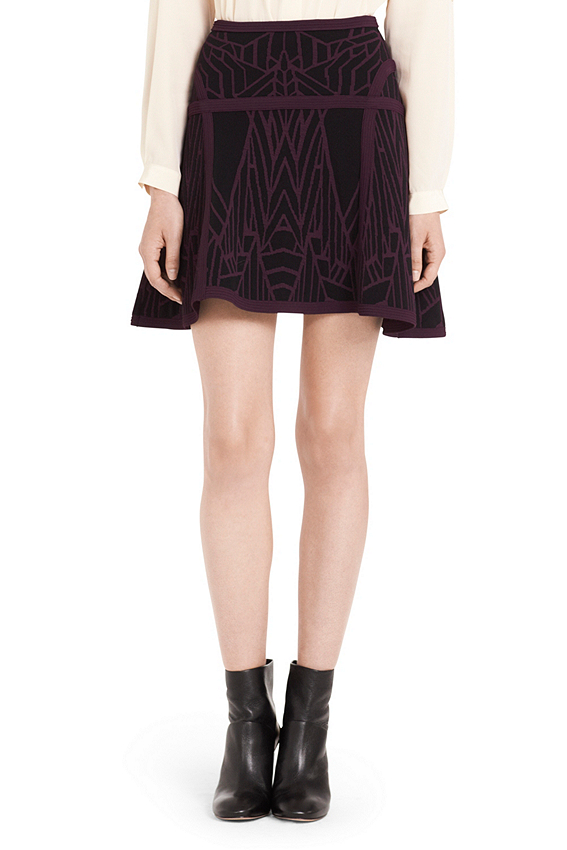 Flote Super Stretch Fit and Flare Knit Skirt | Bottoms by DVF