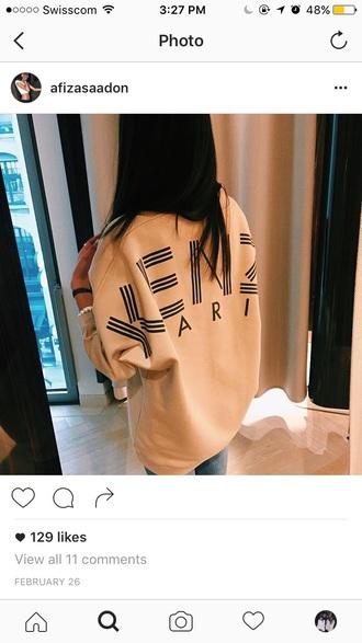 sweater kenzo fall outfits beige warm sweater